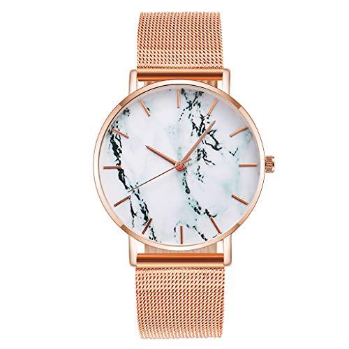 Armbanduhr Damen Ronamick Vansvar beiläufige Quarz Edelstahlband Newv Bügel Uhr analoge uhren Armbanduhr Analoge Armband Uhr Uhren (C)