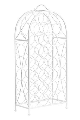 Premier Housewares Porte-Bouteilles Modèle Cafe Cassis - pour 20 Bouteilles de vin - en métal - Couleur crème, Métal, crème, 22 x 43 x 91 cm