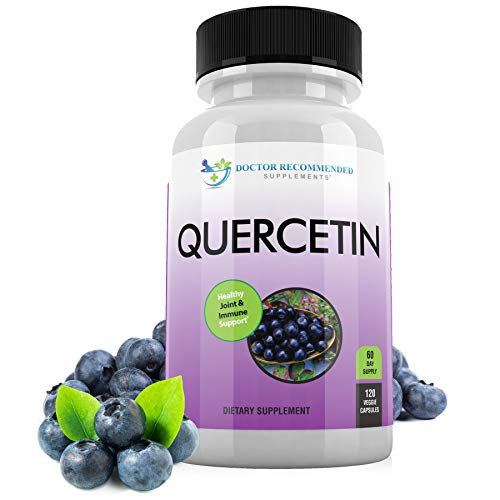 Quercetin 1000mg Per Serving - 120 Veggie Capsules, Vitamin Supplement to Support Cardiovascular Health, Immune Response and Anti-inflammatory, 60 Day Supply, (Vegan and Non-GMO)