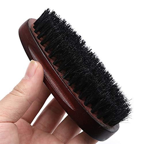 Barbe naturelle Brosse for hommes Bambou visage massage au peigne Barbes et Mustach Matériel fiable (Color : 13x6x5cm)