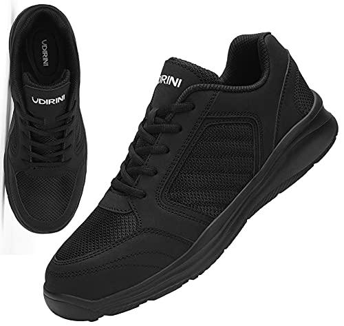 UDIRINI Zapatos de Seguridad Hombre Impermeable Puntera de Acero Zapatos de Seguridad Anti-pinchazos Calzado de Zapatos (Negro Carbón,46 EU)