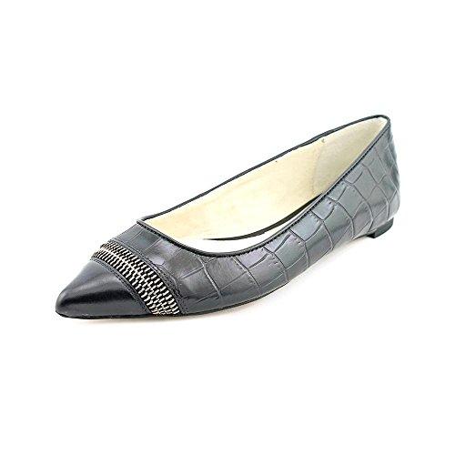 Michael Kors Haya Flat Femmes Noir Cuir Chaussures Mocassins