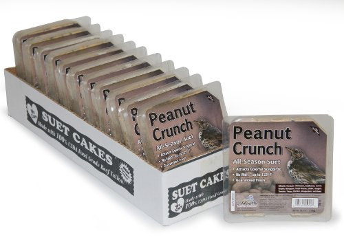 Heath Outdoor Products DD-18 Peanut Crunch Suet Cake, 12-Pack