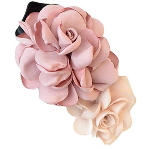 Mixte clip coloré Simulation Fleur Rose Cheveux épingle Fleur Coiffe(Rose)
