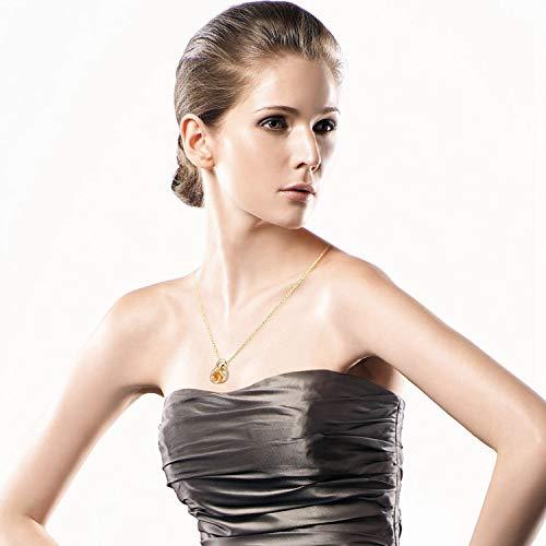 Rose collier, 24 karaats vergulde hartvormige hanger voor dames