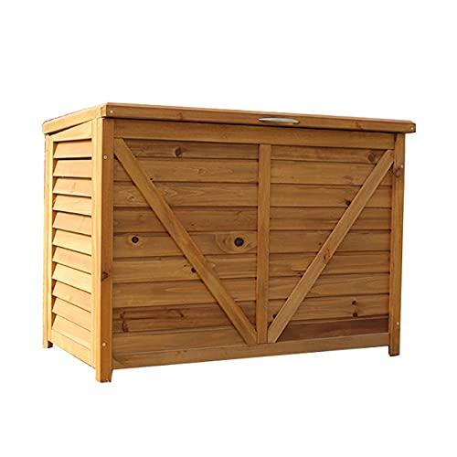 Baúl de Almacenamiento Board Plus Antracita Arcón de jardín Cofre con y Asas Baúl para Cojines Caja de Almacenamiento Cofre de Plástico para Almohadas Arcón de jardín balcón Exterior (Size : B)