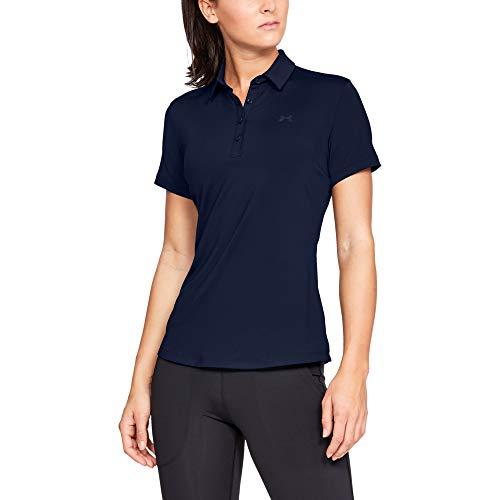 Under Armour Zinger Short Sleeve Polo Chemise Femme, Bleu, S