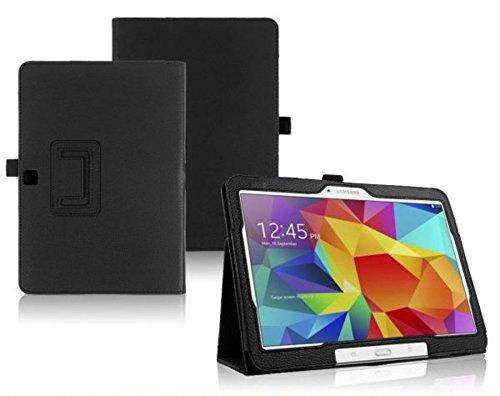 Tasche für Samsung Galaxy Tab 4 10.1 Zoll SM-T530 T531 T533 T535 Smart Slim Hülle Book Cover Stand Flip (Schwarz)