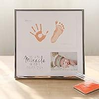 ベビーの手と足のインク 赤ちゃんの手と足のインク - インクの色、環境にやさしい材料、壁にマウントすることができますか、置かれる、透明防塵、シンプルな赤ちゃん新生児のインクプリントおみやげ印刷年齢ギフト - (色 : Orange)
