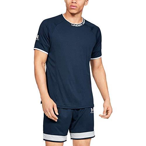 Under Armour Challenger III Training Top Transpirable para Hacer Deporte, Camiseta para Hombre, Azul, LG