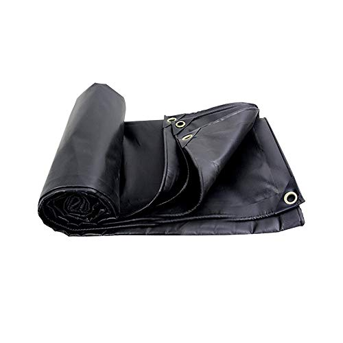 XSJZ Bâches de Protection Black Tarpaulin, Blackout de PVC en Soie de Polyester Et Bâche Imperméable de Protection Solaire Appropriée À La Toile D'empilage de Couverture de Camion Bâche Résistante