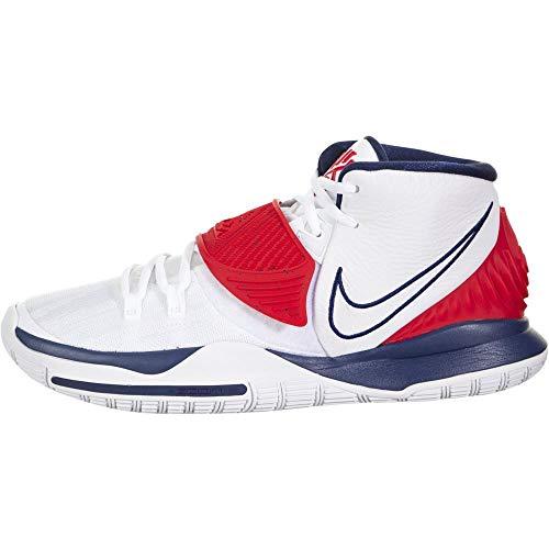 Nike Zapato de baloncesto para hombre, blanco (Blanco rojo azul ), 40.5 EU