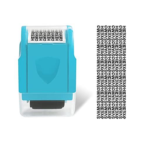 1 juego de sello de protección de información de identidad + recambio portátil reutilizable de rodillo ancho sello de seguridad para prevención de robo de identidad