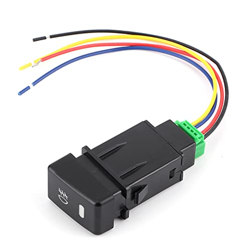 Interruptor de luz antiniebla, balancín de luz antiniebla de plástico resistente al desgaste Kit de cableado de luz antiniebla estable para MU-X/D-MAX