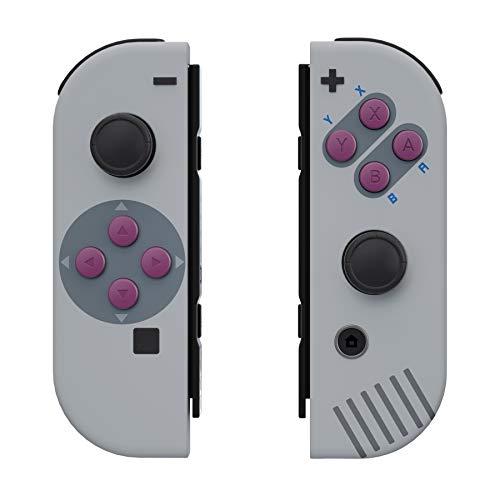 eXtremeRate Carcasa para JoyCons de Nintendo Switch Funda de Agarre Shell Cubierta Tacto Suave con ABXY Drecctión Botones para Nintendo Switch No Incluye Carcasa de Consola(Clásico 1989 GB DMG-01)