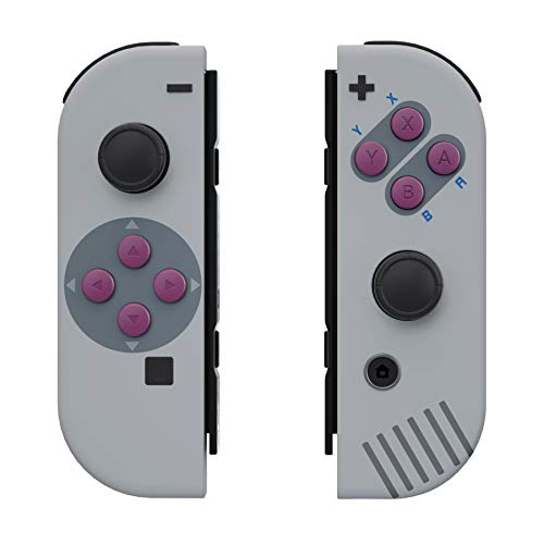 eXtremeRate Soft Touch Grip Classic 1989 GB DMG-01 Style Joycon Handheld Controller Housing with Buttons, DIY Replacement Shell Case for Nintendo Switch Joy-Con – Joycon and Console NOT Included