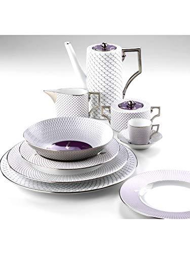 RICHARD GINORI Servizio Piatti e caffè in Porcellana Modello Luna Oceano Viola Composto da 53 Pezzi