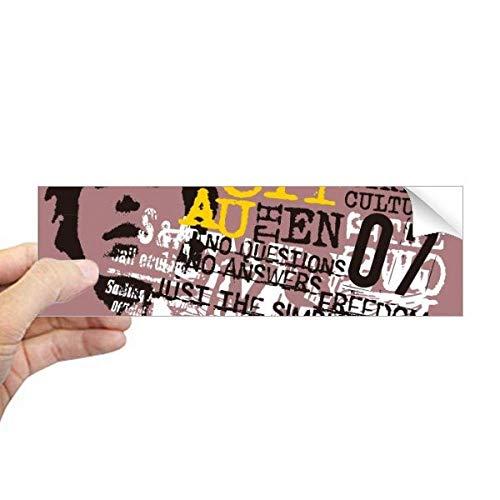 DIYthinker Graffiti Adesivo retangular de para-choque, cultura urbana, tribo urbano, decalque para janela