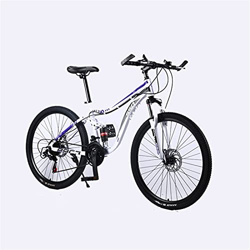 Youth/Adult Variable Speed 24inch Windproof Spoke Wheel Multifunctional Mountain Bike,Male And Female Student Bicycles, Front Suspension Of Mountain Cross-country Bike, Multiple Colors, Anti-slip Resi