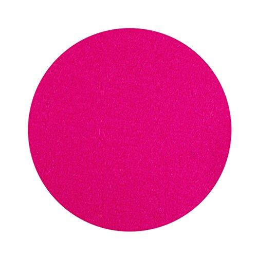 Feutre Disques Taille Ø 10 cm Soucoupe ronde Couleur Rose 100% mérinos feutre 3 mm