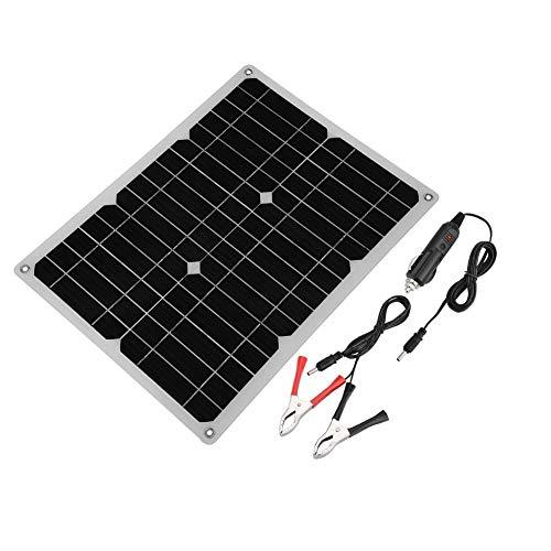 GOTOTOP Solar Ladegerät, 15W Monokristalline Solarmodule mit USB 2,0-Ladeanschluss, 12V Solarpanel für Reisen, Sport, Wandern und Camping, 350 x 280 x 3mm