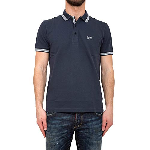 BOSS Herren Paddy Poloshirt, Navy 414, Small