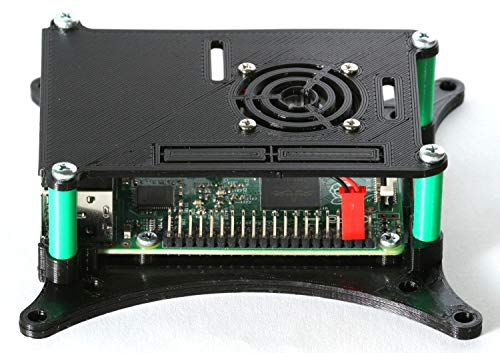 Raspberry Pi 2 3 en 4 Case Met 75mm & 100mm VESA Monitor TV Mount Zwart Met Ventilator 0110-M-P