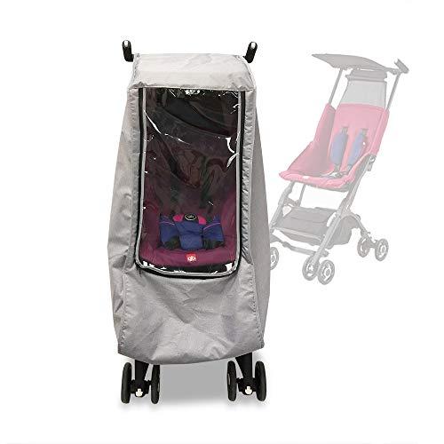 Regen- & windhoezen voor Goodbaby Pockit Stroller Kinderwagen accessoires Waterdichte regenjas geschikt voor GB Pockit 3S 2S 3C Plus (Grijs)