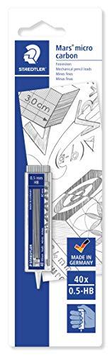 Staedtler Mars Micro Carbon 25505HBBKD. Minas para portaminas. Caja con 40 minas HB de 0,5 mm.