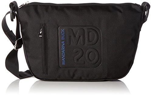 Mandarina DuckMD20 - Borsa a tracolla Donna , Bianco (BLACK 651), 27x8x19 cm (B x H x T)