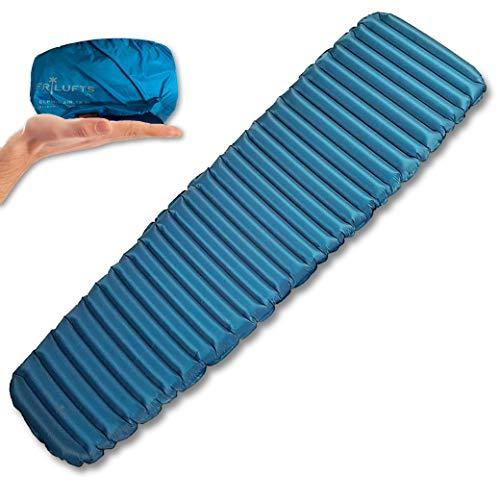 Frilufts ELPHIN AIR 6.0 Isomatte Luftmatratze Ultraleicht Thermolite Eco Matte Trekking 520 g (Blau M)