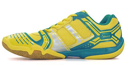 LI-NING Women Saga Light Daily Badminton Shoes Anti-Slippery Breathable Cushioning Lightweight Sneakers Yellow AYTM076 US 8