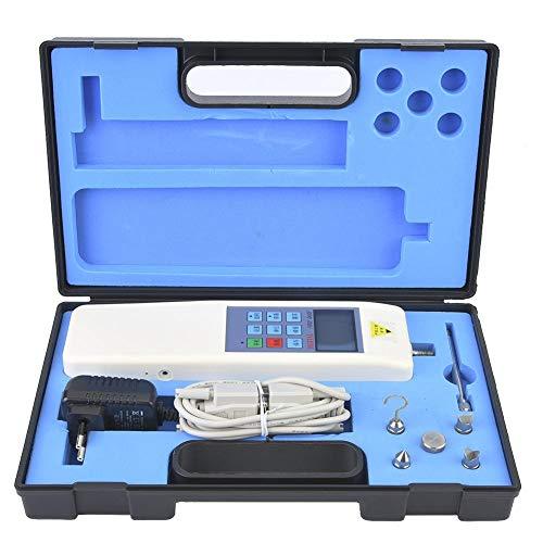 Medidor digital de fuerza, 100-240V 200N Medidor portátil de prueba de empuje y tracción Medidor digital de fuerza con pantalla LCD para instrumentos de laboratorio de análisis estadístico(EU Plug)