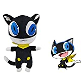 Persona 5 Morgana Plush, Cartoon Black Cat Morgana Plush Toy para fanáticos de Persona 5 (1pcs)