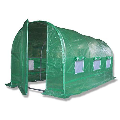 """3 Größen \""""der Stärkste in seiner Kategorie\"""". Mit mehr Innenstreben als jede andere ähnliche Struktur auf dem Markt. Vollverzinkte Struktur, Metalltüren, Bodenleisten und Bodenanker Set. Wähle aus 3m x 2m, 4m x 2m oder 6m x 3m. Folientunnel   Gewächshaus   Treibhaus   Foliengewächshaus   Pflanzentunnel   Frühbeet   Folienzelt   Tomatenzelt. (4 m x 2 m)"""