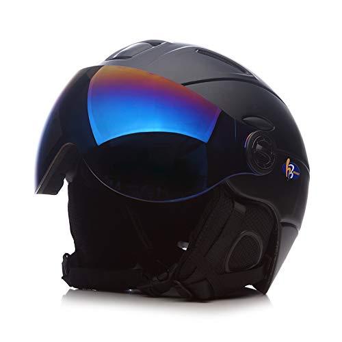 SKI Homme/Femme/Enfant Casque De, Lunettes Masque Snowboard Casque Moto Vélo Vélo Planche À roulettes De Motoneige Sport Sécurité,B,XL
