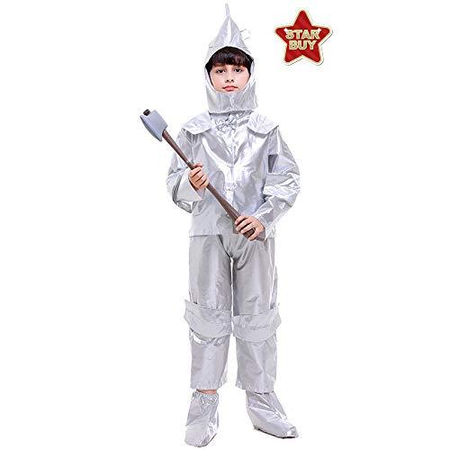 COSOER Disfraz De Mago De Oz El Hombre De Hojalata Ropa De Cosplay De Halloween para Niño,Children-S