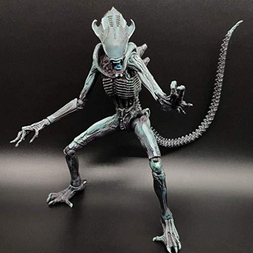 YUEDAI Figura Extranjero: 7 Pulgadas Figura de acción de la Escala Verde Armadura Extranjero Guerrero colector for Aficionados Extranjeros de Aliens Vs Predator