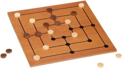 Philos 3181 - Mühle-Set mit klappbarem Spielbrett, Strategiespiel