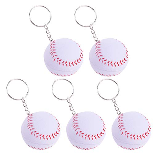 Amosfun Softball Key Ring Charm Baseball Schlüsselbund Tasche Anhänger dekorative Schlüsselanhänger 15St
