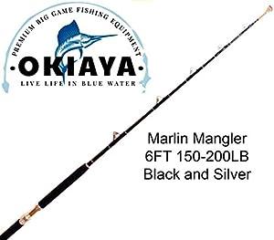 OKIAYA COMPOSIT 150-200LB Marlin Mangler Saltwater Big Game Roller Rod