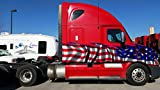 American flag graphics 18 wheeler, american flag semi truck decal, 18 wheeler full color flag graphics, flag sticker for semi truck, USA flag full color graphics, flag colored decal zwa_1 (15' long)