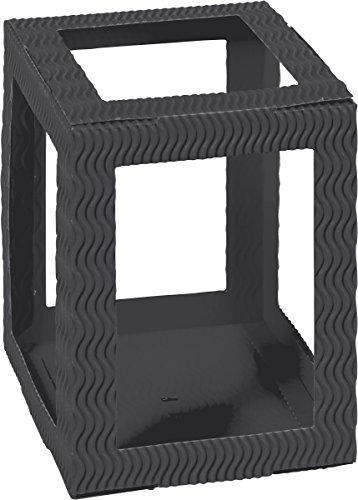 HEYDA 204815090 Laternen-Zuschnitt, rechteckig, groá, schwarz