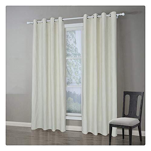 SimidunEUR 70% Blickdichter Vorhang mit Ösen Wohnzimmer Blickdicht Verdunkelungsgardine,Aprikose,140 * 160 cm