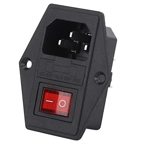 Weikeya Interruptor de Enchufe de energía Estable, Enchufe del módulo de Entrada 16A 250V Resistencia a la Temperatura Resistencia a la Llama con latón