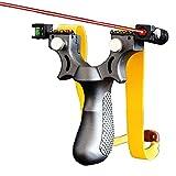 TAIYANYU Scope Slingshot,High Velocity Hunting Slingshot with Adjustable Fiber Optic Sight Resin, PRO Outdoor Hunting Games Powerful Catapult Set