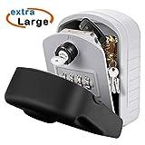 Große Speicher: Schlüsseltresor außen ist groß genug (Innengröße ca. 11.5 * 8 * 4.3 CM) um Hausschlüssel, Büroschlüssel oder andere große Autoschlüssel zu platzieren, und Sie können auch einige kleine Dinge aufbewahren Brauchen Sie, wie Kreditkarten,...