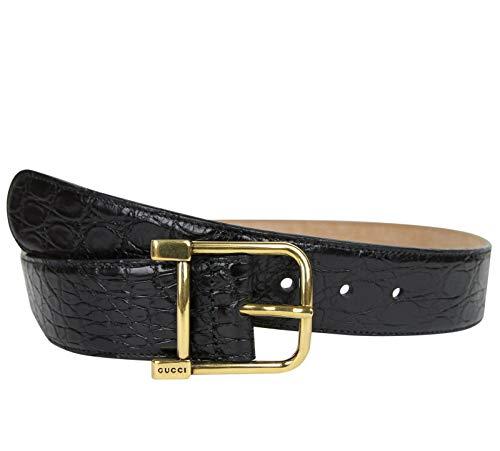 Gucci 257319 E7I0T 1000 - Cinturón de cocodrilo para mujer