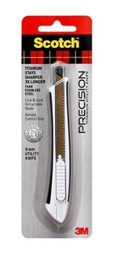 3M 051141391083 Scotch Titanium Snap-Off Utility Knife, Small