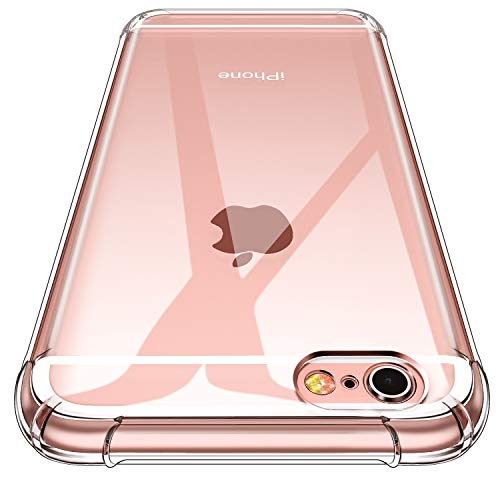 CANSHN Funda iPhone 6s,Funda iPhone 6, Carcasa Protectora Antigolpes Transparente con Parachoques de TPU Suave [Slim Delgada] Compatible para Apple iPhone 6s/6 4.7